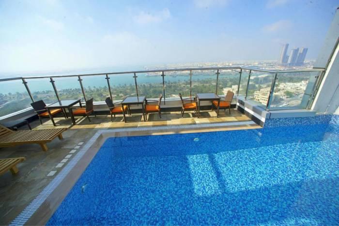 Uitzicht hotel Ramada hotel Corniche ABU Dhabi